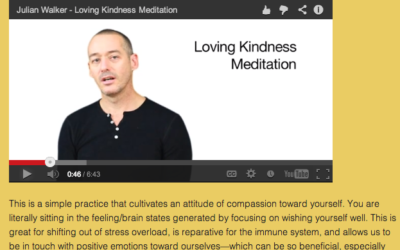 Sitting in the Heart of Compassion: Loving Kindness Meditation